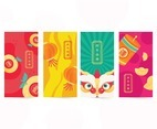 Chinese New Year Cute Card Envelope Template.