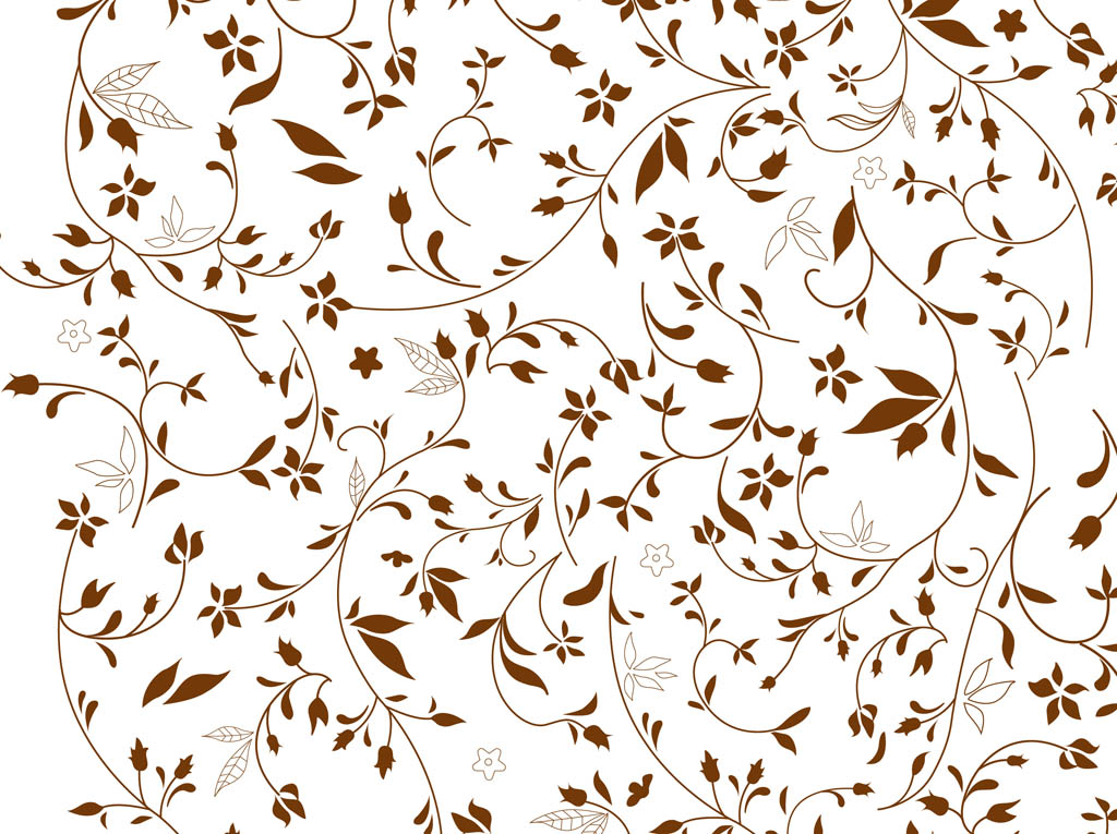 Brown Flowers Background