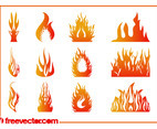 Burning Flames Graphics Set