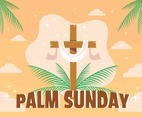 Flat Palm Sunday Concept