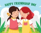 Two Girl Celebrate Friendship Day Together