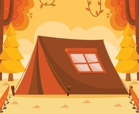 Tent in the Park for Autumn Camping