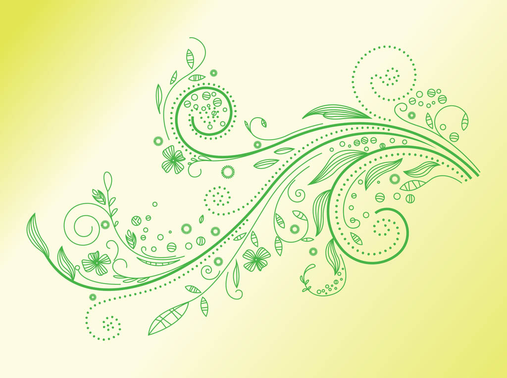 Green Plant Swirl Vector Art & Graphics | freevector com