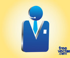 3D Businessman Icon