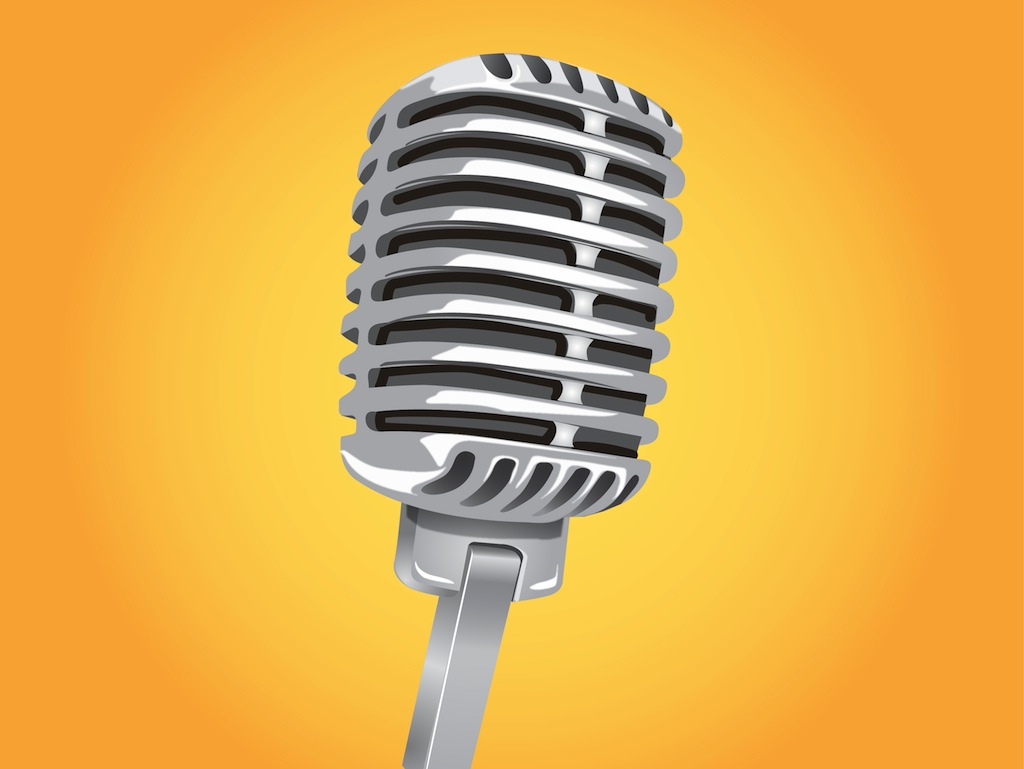 Classic Microphone Vector