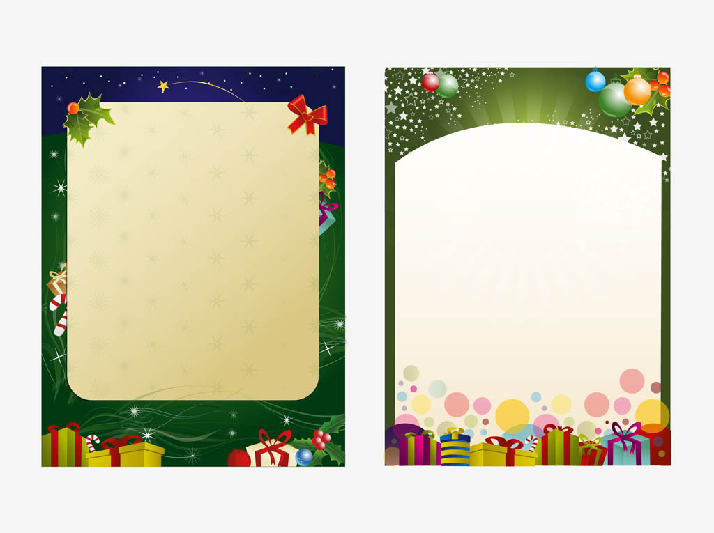 Christmas Poster Templates Vector Art  Graphics  FreevectorCom