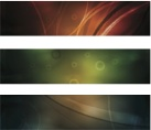Bright Abstract Banner Vectors