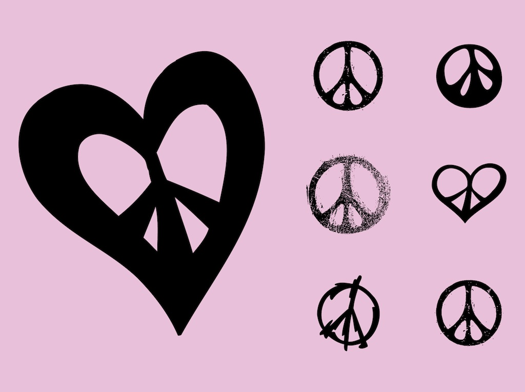 Peace Symbols Vector Art Graphics Freevector