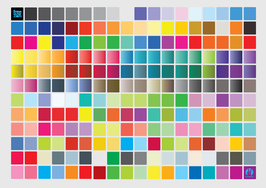 Color Chart Vector Art & Graphics | Freevector.Com
