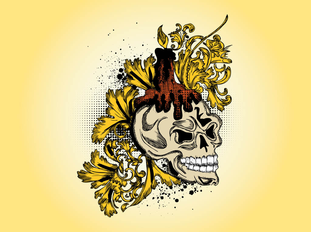 Skull Vector Drawing