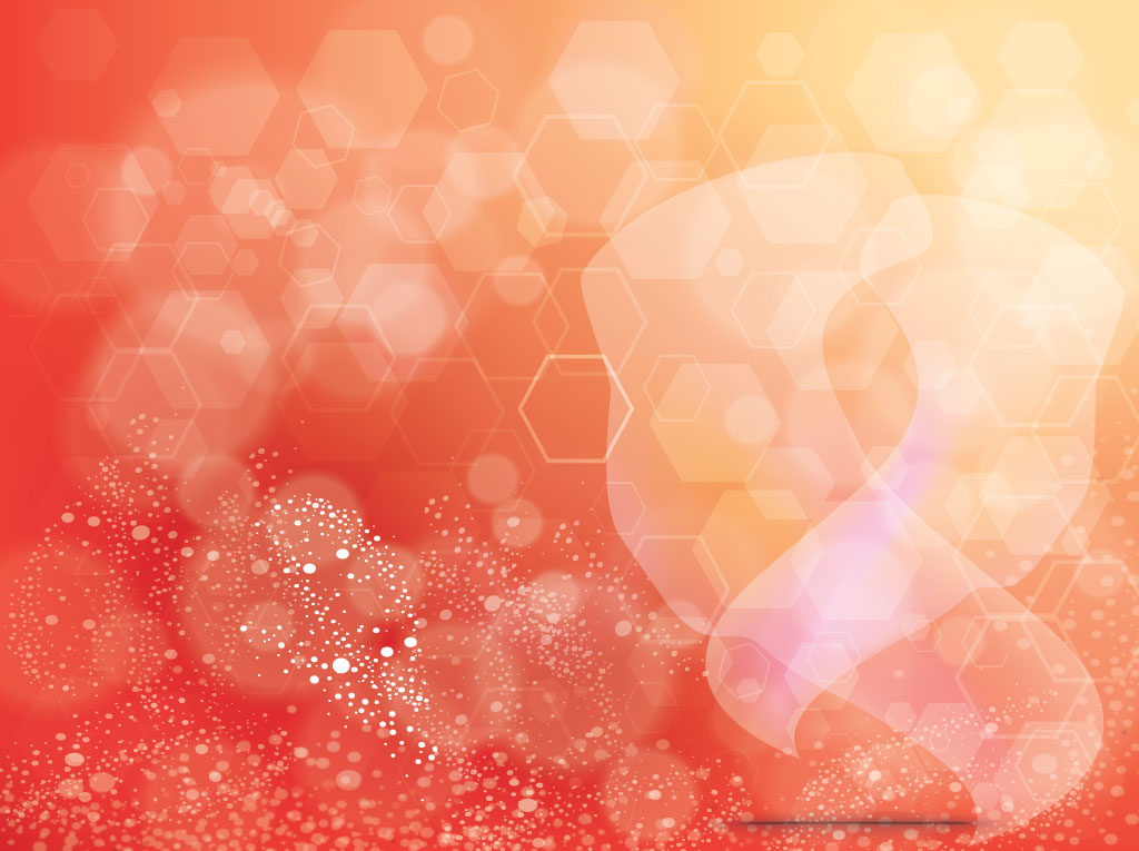 Orange Background Hexagon Design
