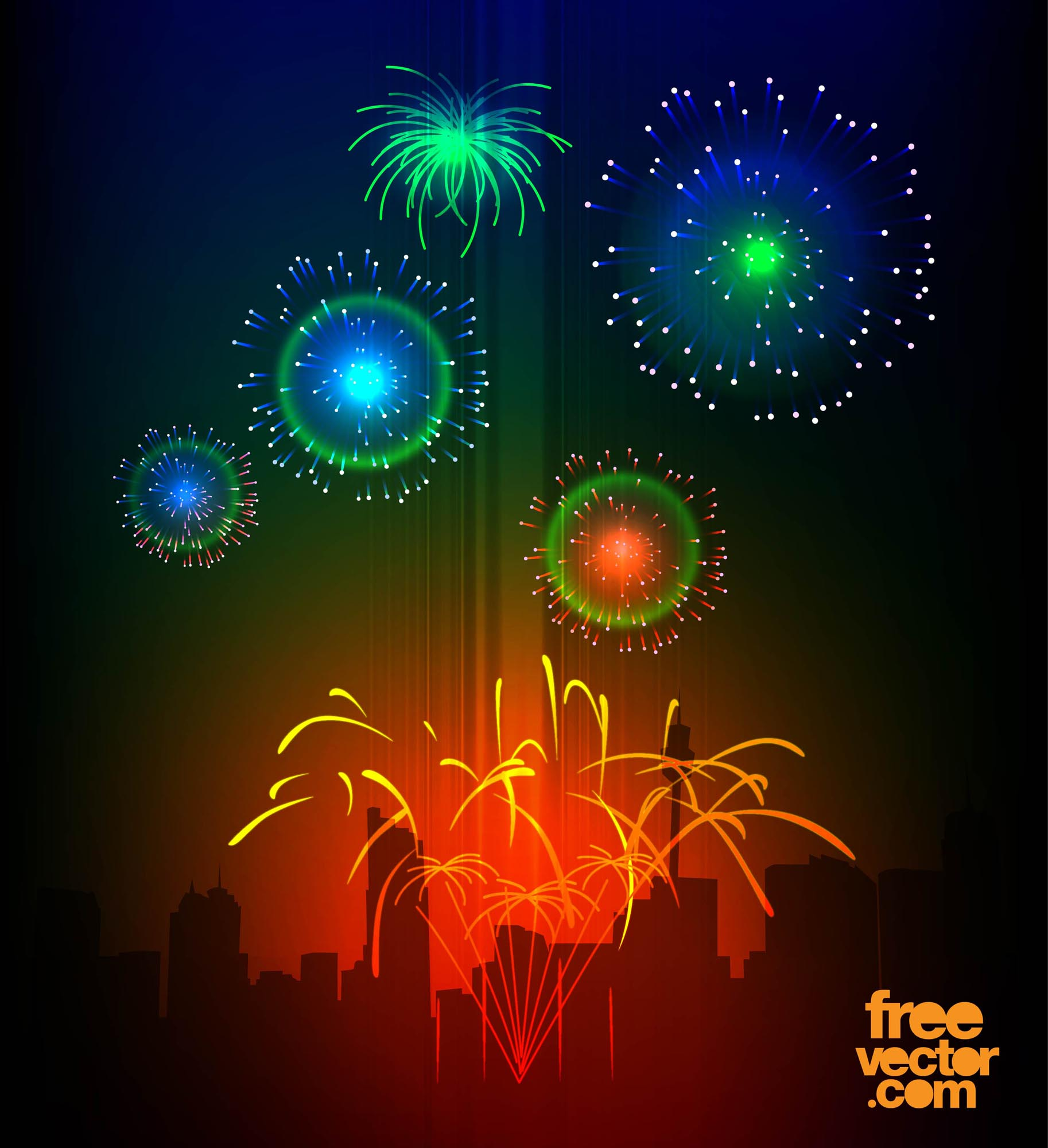 Weekly Calendar Colorful : Vector fireworks art graphics freevector