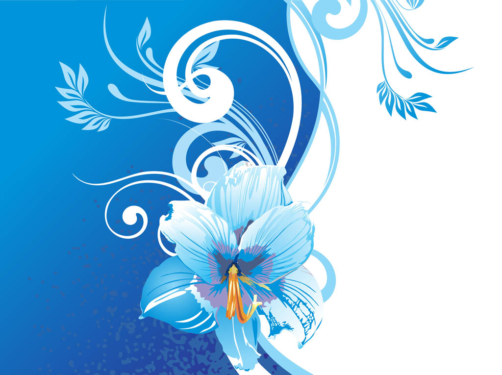 blue flower backgrounds vector - photo #4