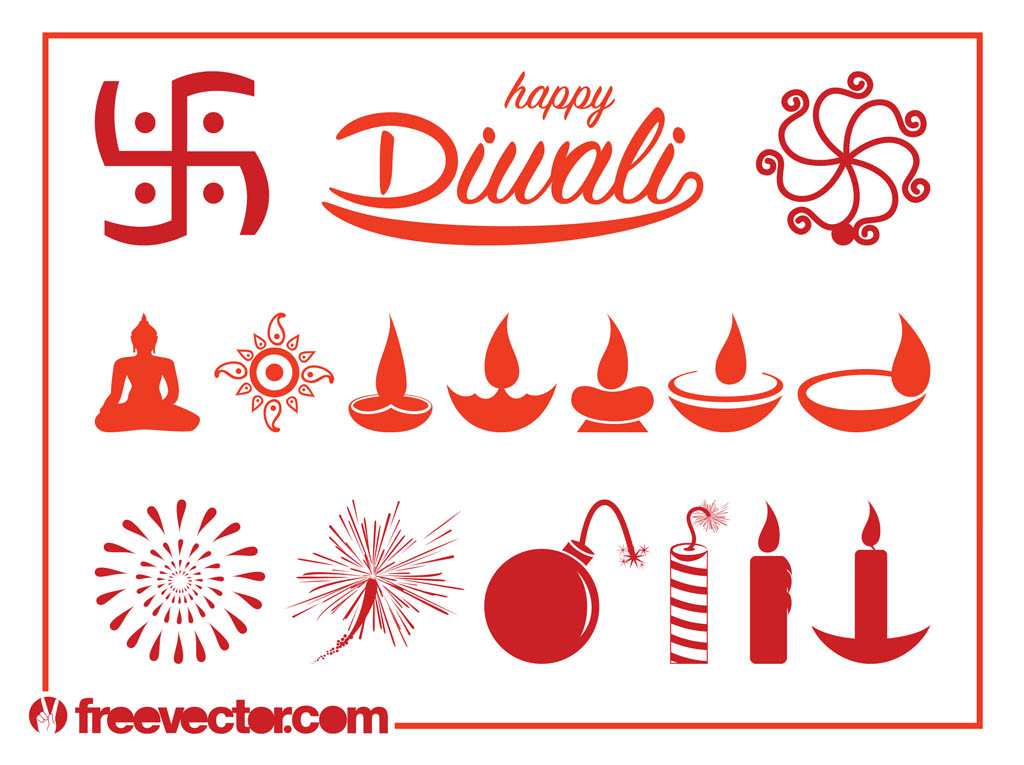 Diwali Graphics Set
