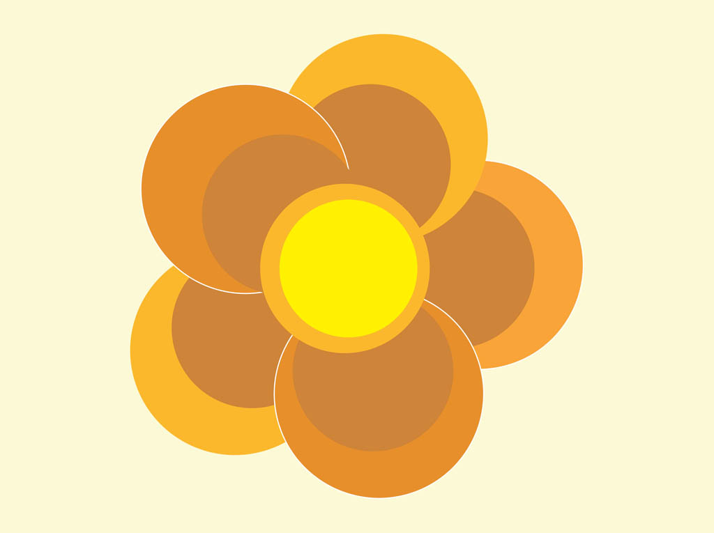 Round Flower Vector Art & Graphics | freevector.com
