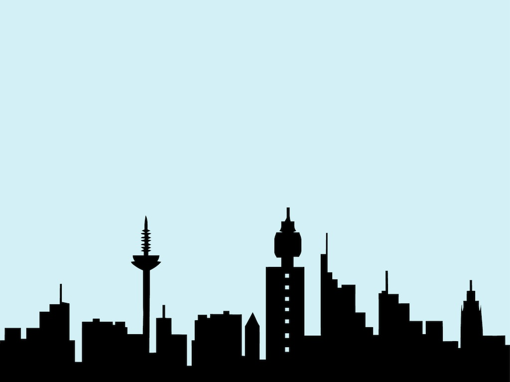 frankfurt skyline vector art graphics freevector com rh freevector com chicago skyline clipart free chicago skyline black and white clipart