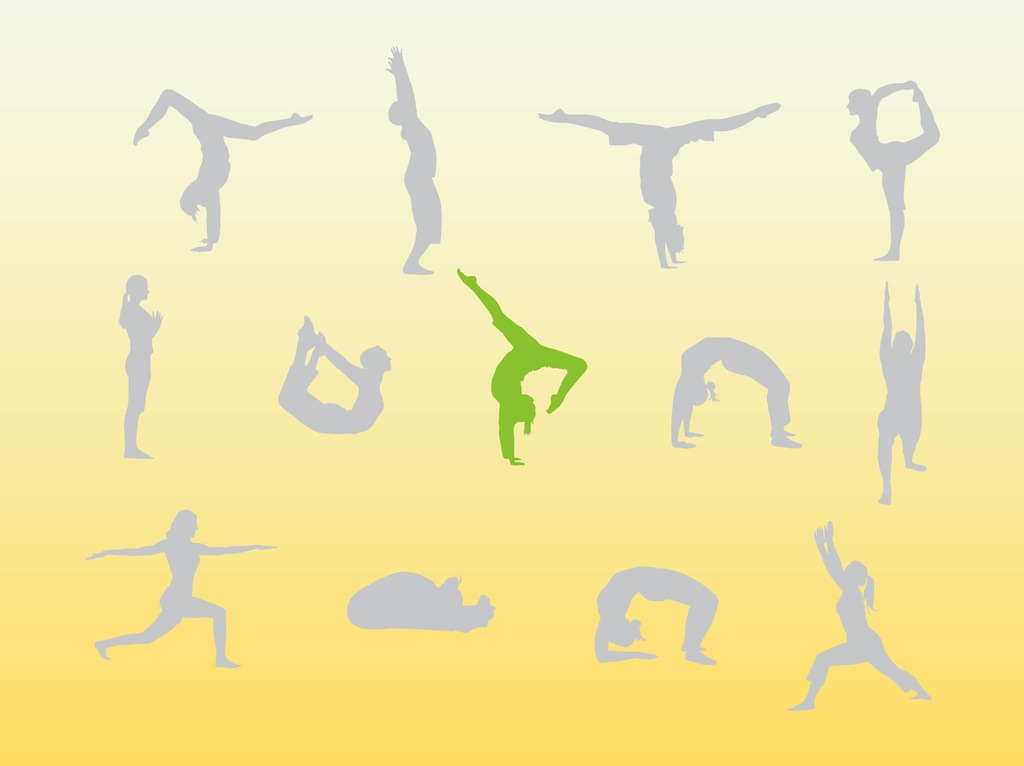 Yoga People Silhouettes