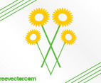 Stylized Sunflowers Graphics