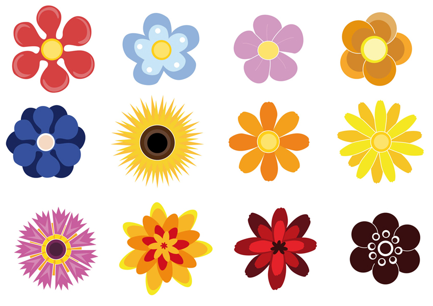 vector clipart flowers - photo #39