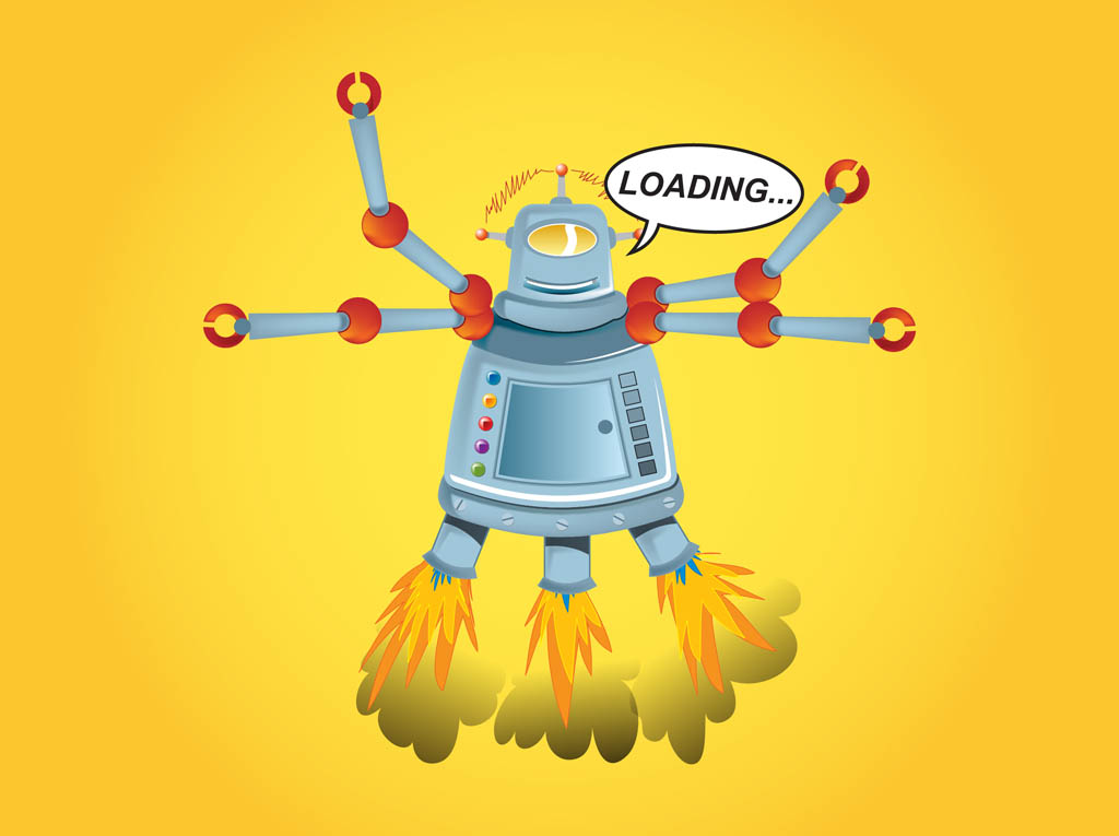 Cartoon Robot Graphics