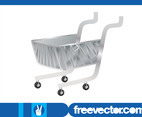 Silver Shopping Cart