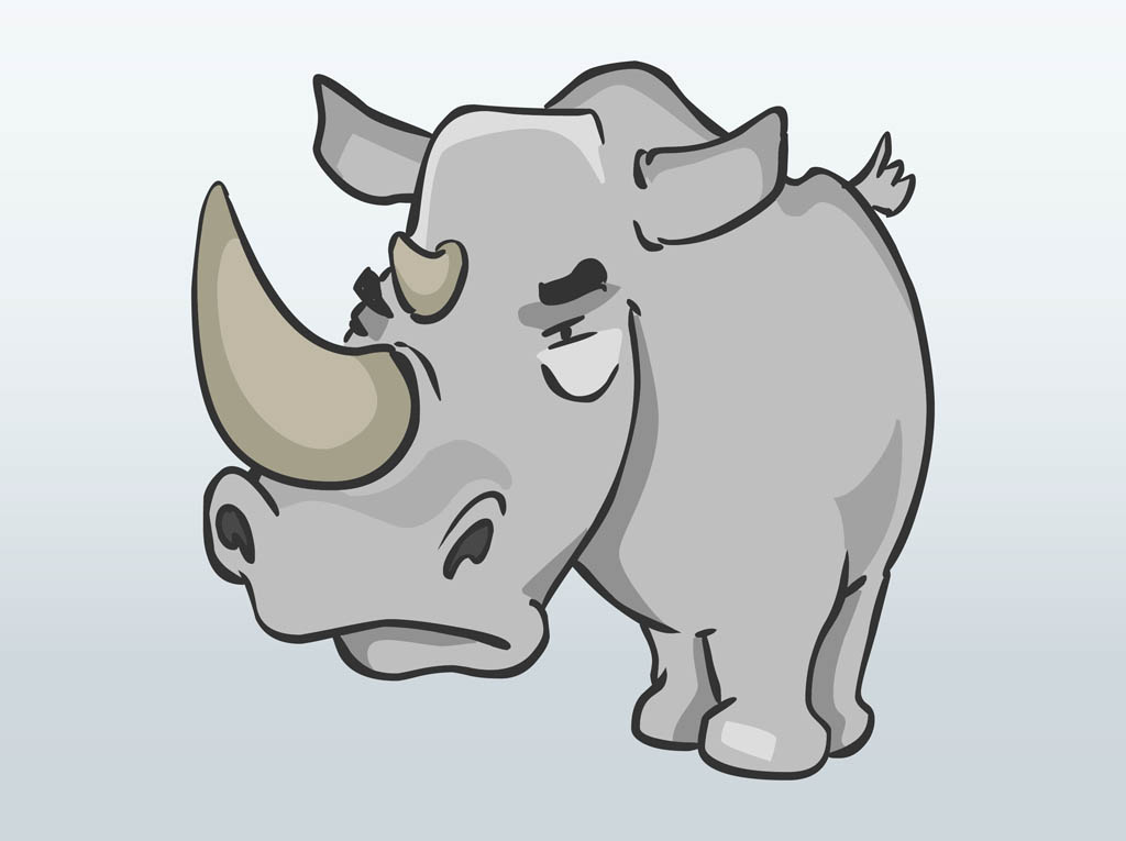 Cartoon angry rhino royalty free clipart picture pictures to pin on