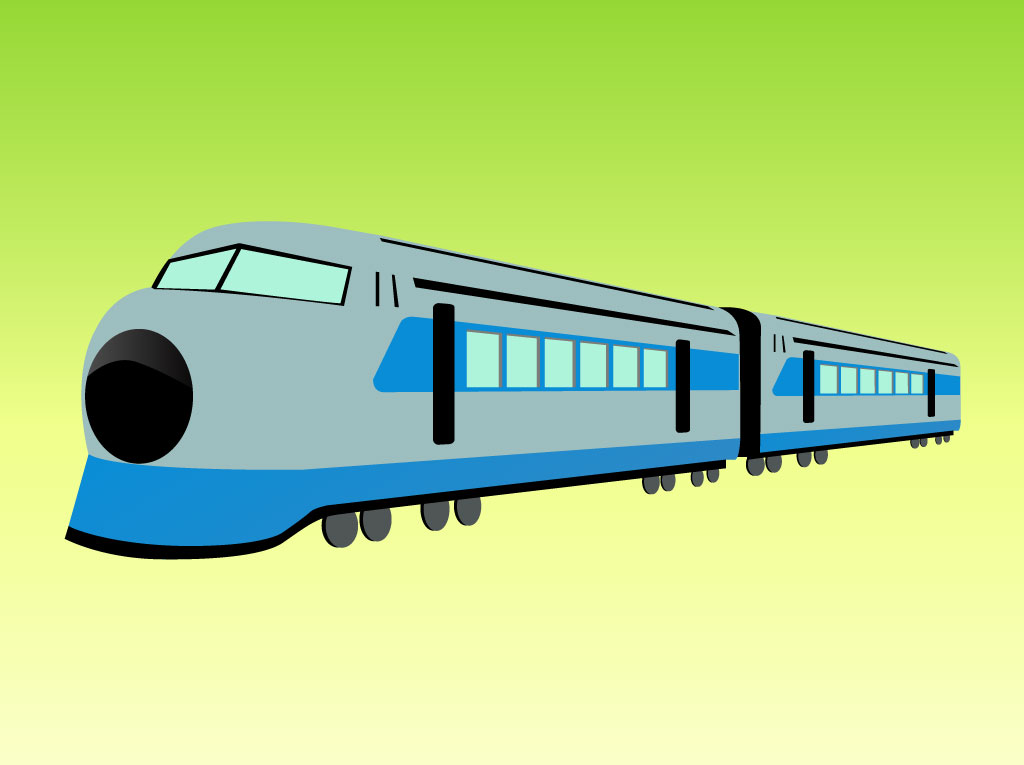 Vector Train Cartoon