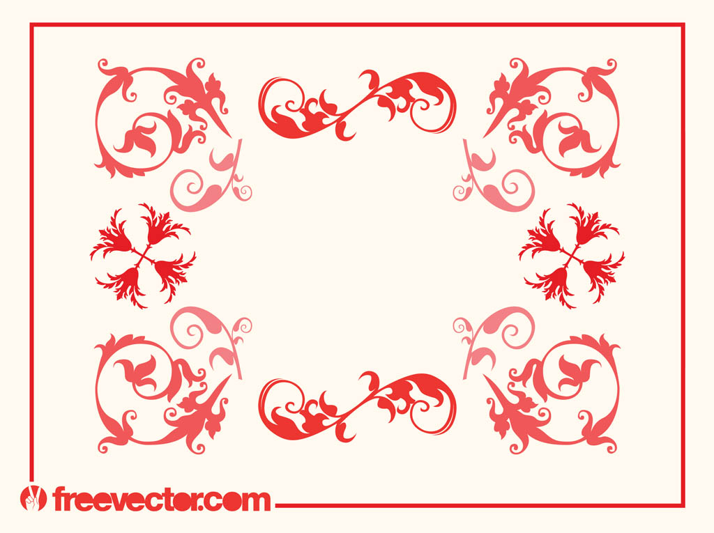 Swirly Frame Vector
