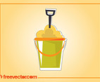 Beach Bucket Vector