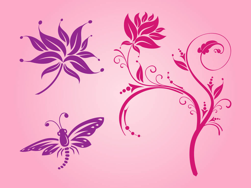 Spring flowers vectors vector art graphics freevector spring flowers vectors mightylinksfo