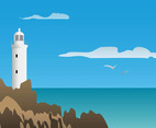 Sea Lighthouse Vector