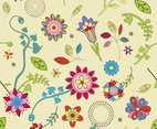 Cute Flowers Wallpaper Pattern