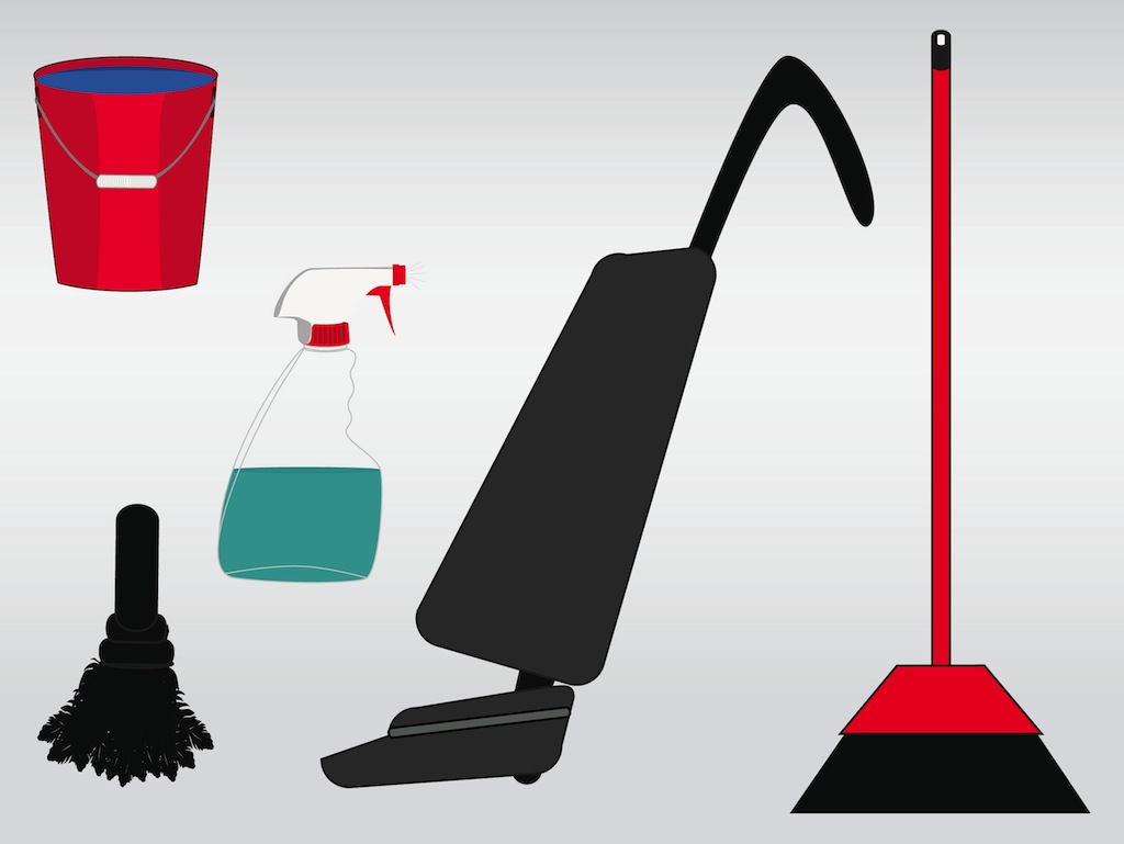 Cleaning The House  Vacuum Vector