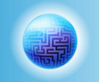Labyrinth Sphere Vector