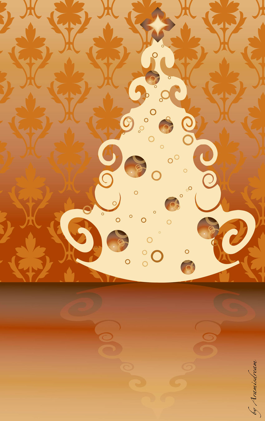 Vintage Christmas Tree Vector Vector Art Graphics Freevector Com