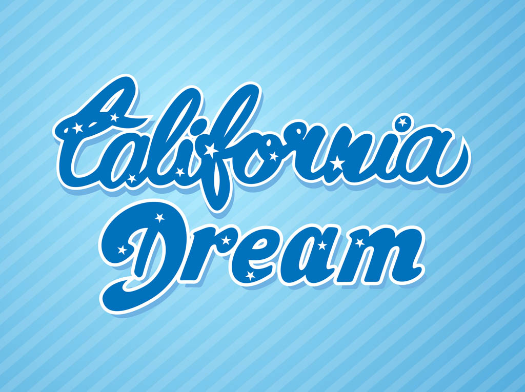 California Dream Vector