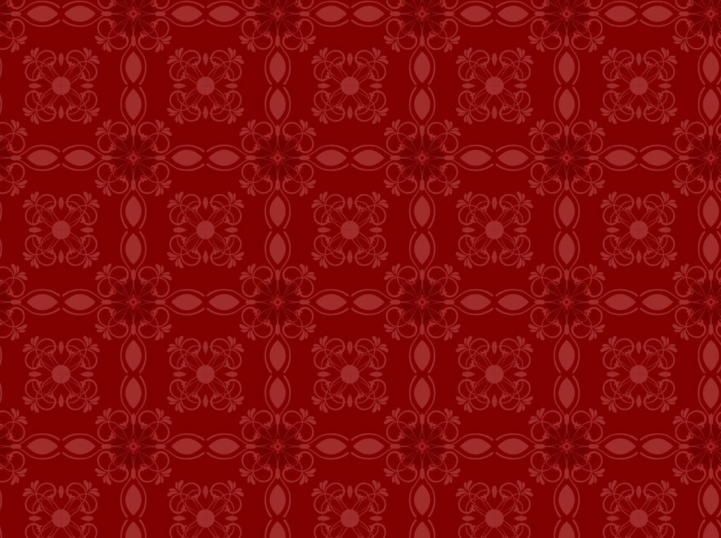 Retro Floral Pattern Wallpaper