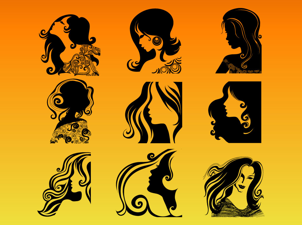 Woman Profile Silhouettes Vector Art & Graphics | freevector.com
