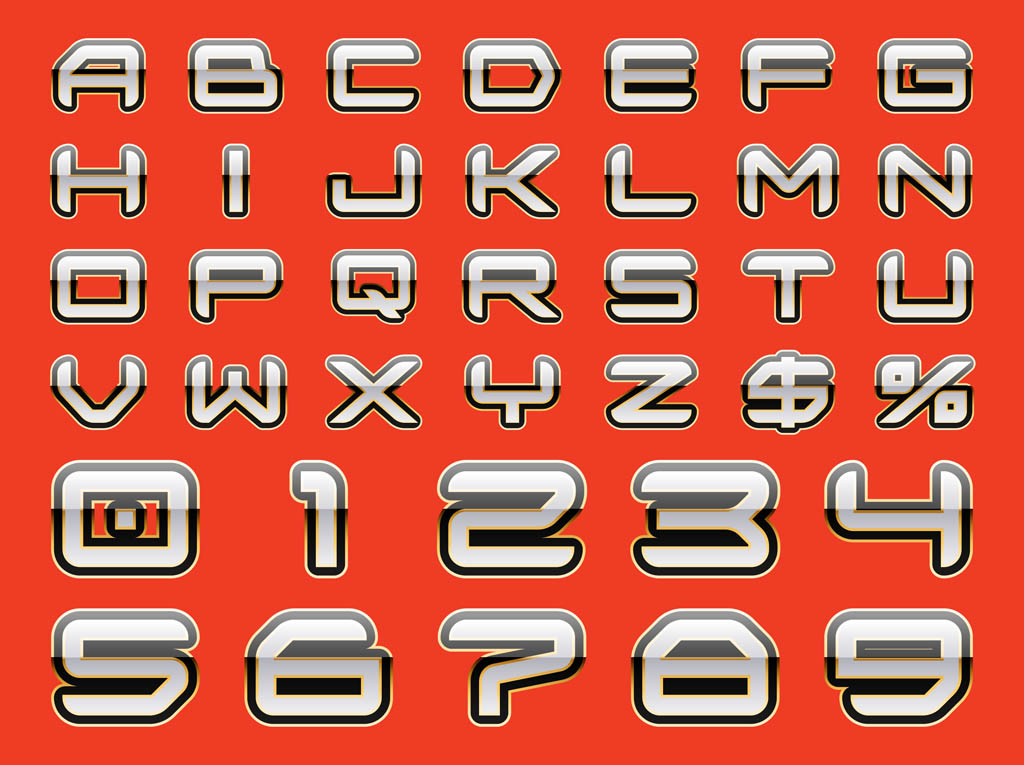 Shiny Letters Graphics