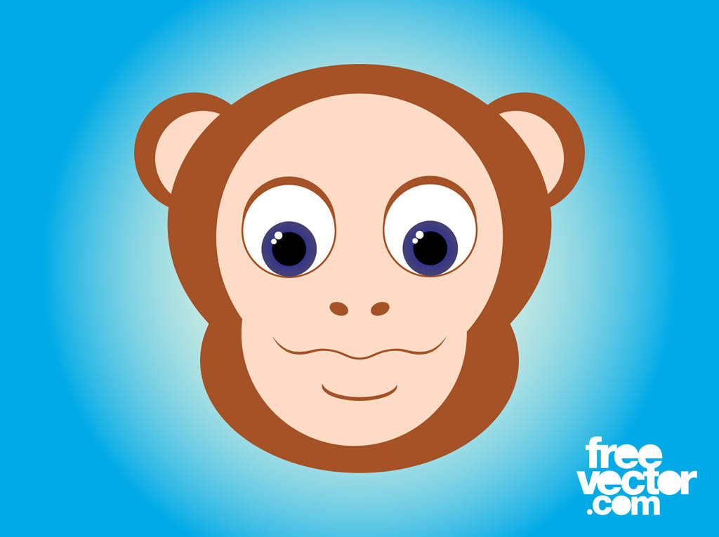 Cartoon Monkey Head