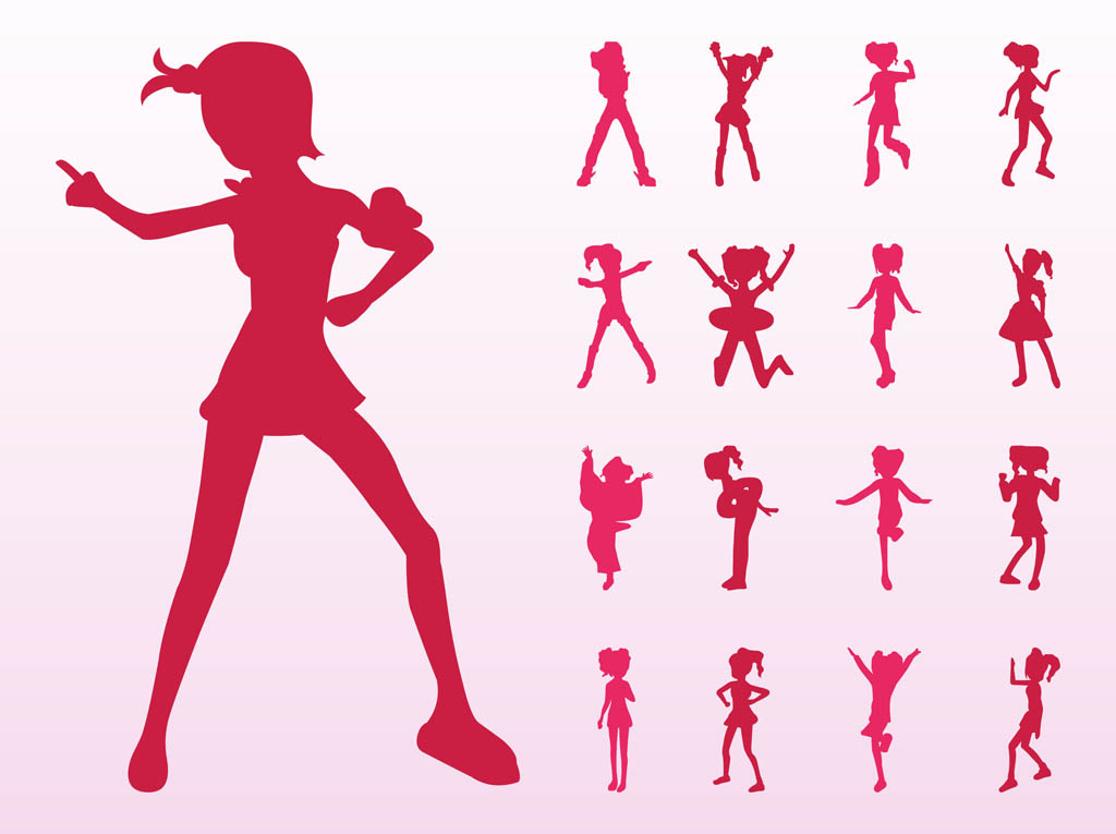 dancing girl silhouette - photo #4