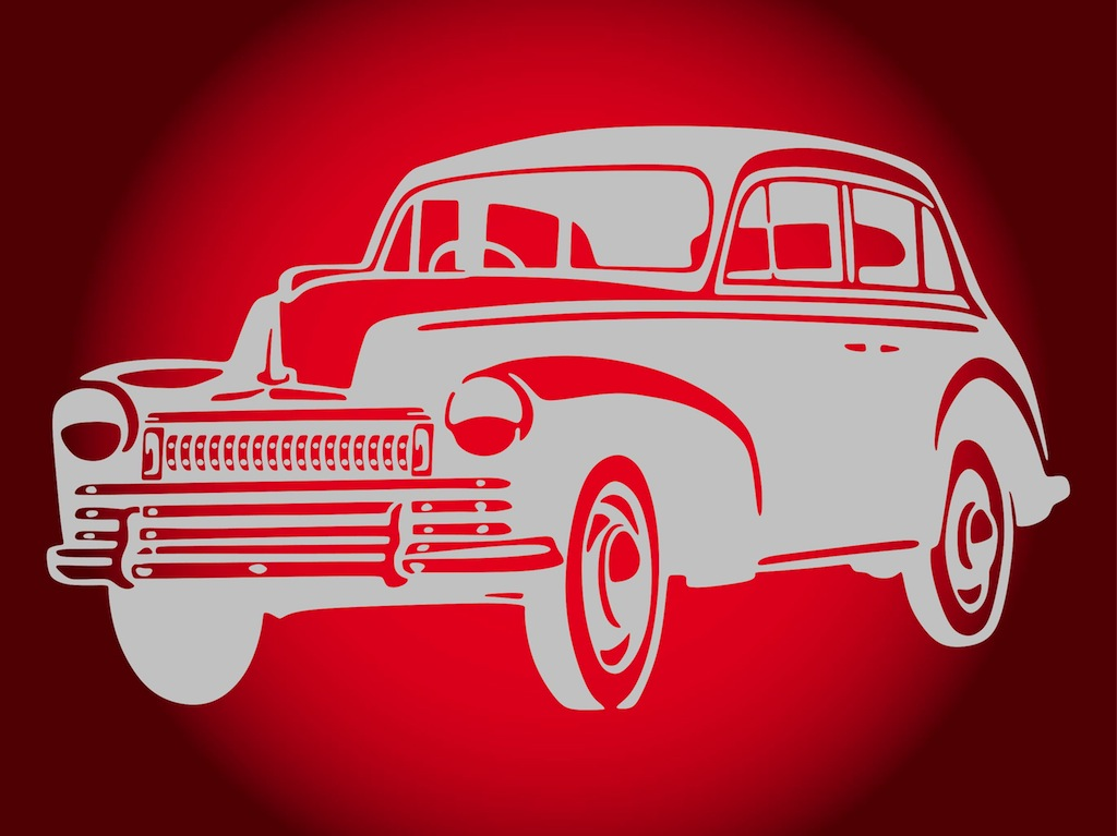 Vintage Car Design Vector Art & Graphics | freevector.com