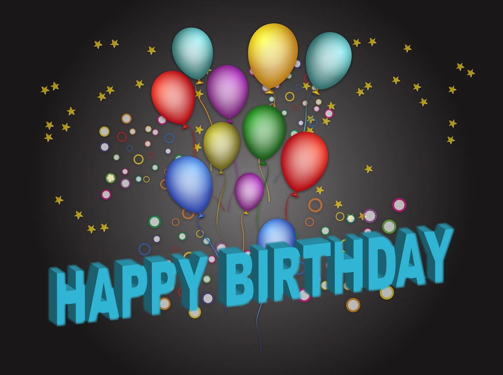 Birthday Poster Vector Art Graphics Freevector Com 1st Year Happy Birthday Wishes