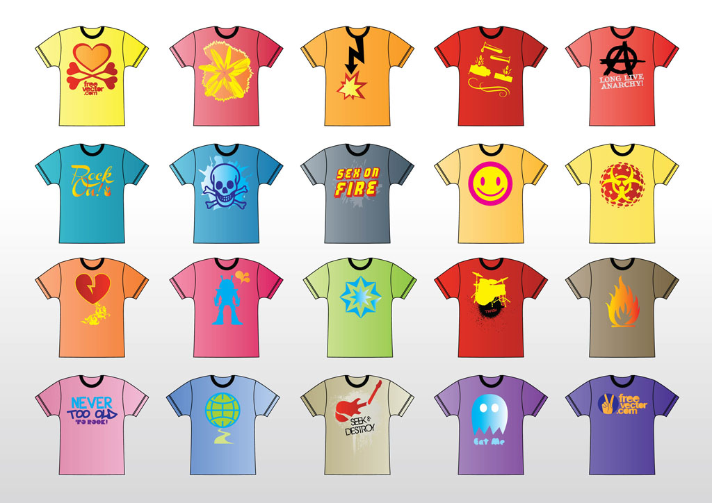 f62fc6a4 T Shirt Vector Vector Art & Graphics | freevector.com