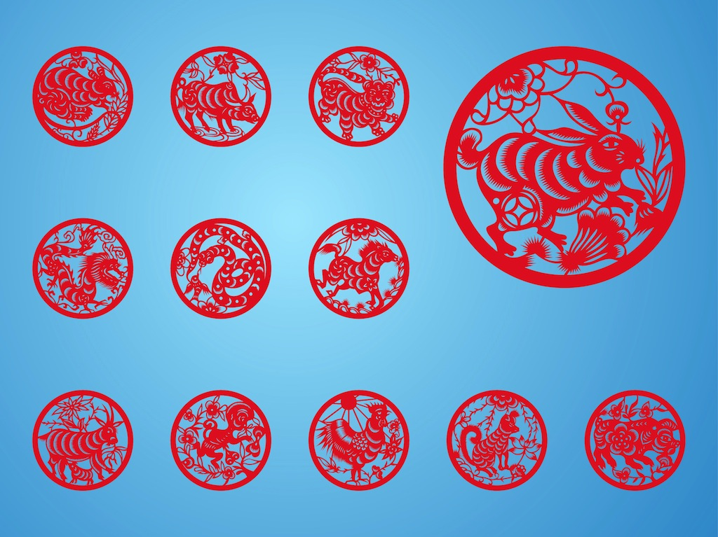 Chinese zodiac for Chinese vector