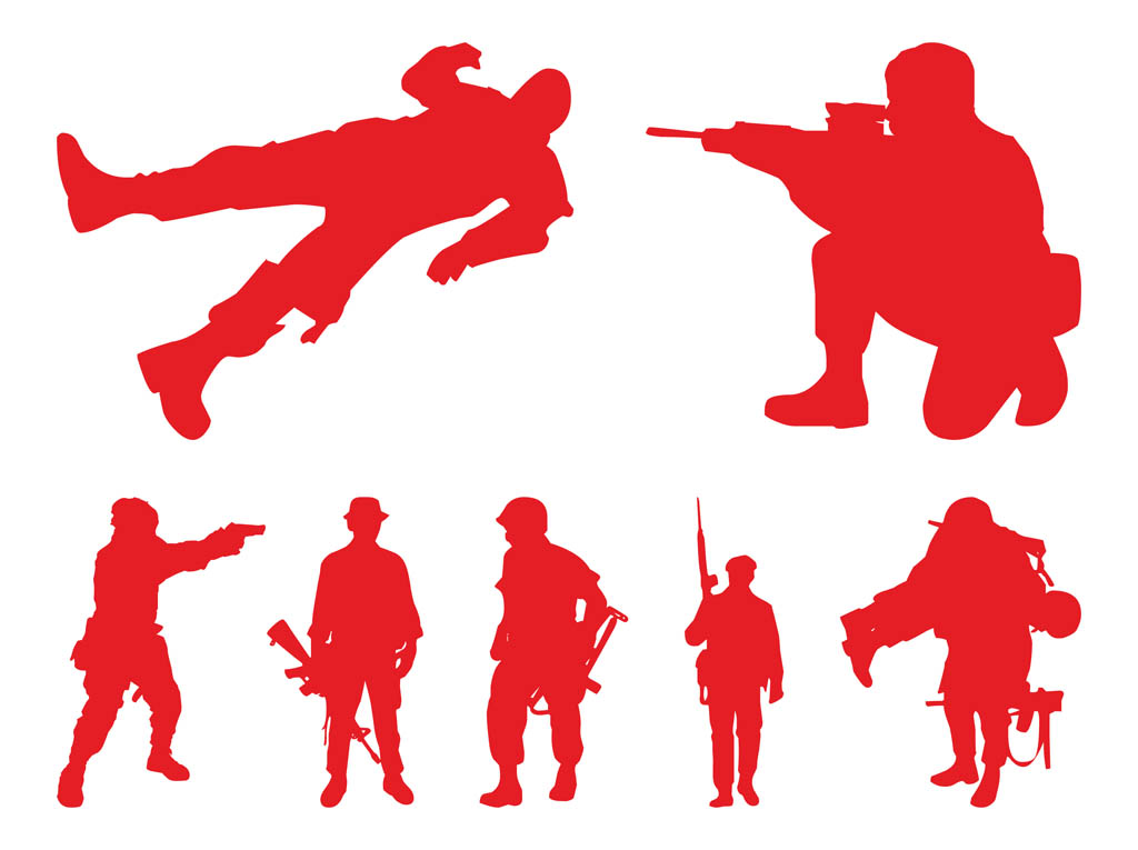 Soldiers Silhouettes Graphics