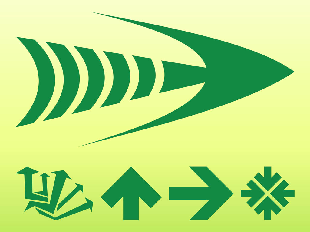 Green Arrows Graphics