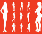 Fashion Models Silhouettes Vectors