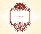 Free Vintage Save the Date Vector