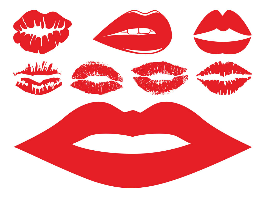 Lips And Kisses Set